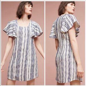 Anthropologie Akemi + Kin Blue White Striped Dress